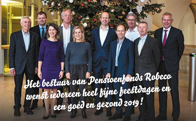 Het bestuur van Pensioenfonds Robeco wenst iedereen hele fijne feestdagen en een goed en gezond 2018